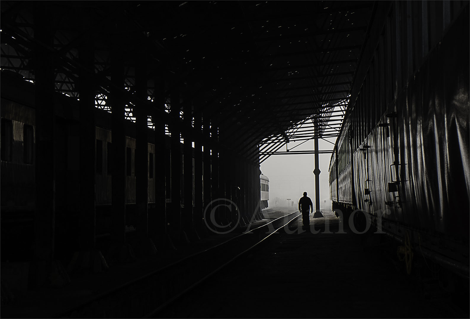 4_PI_Man at the end of the train shed_Clare Appleyard